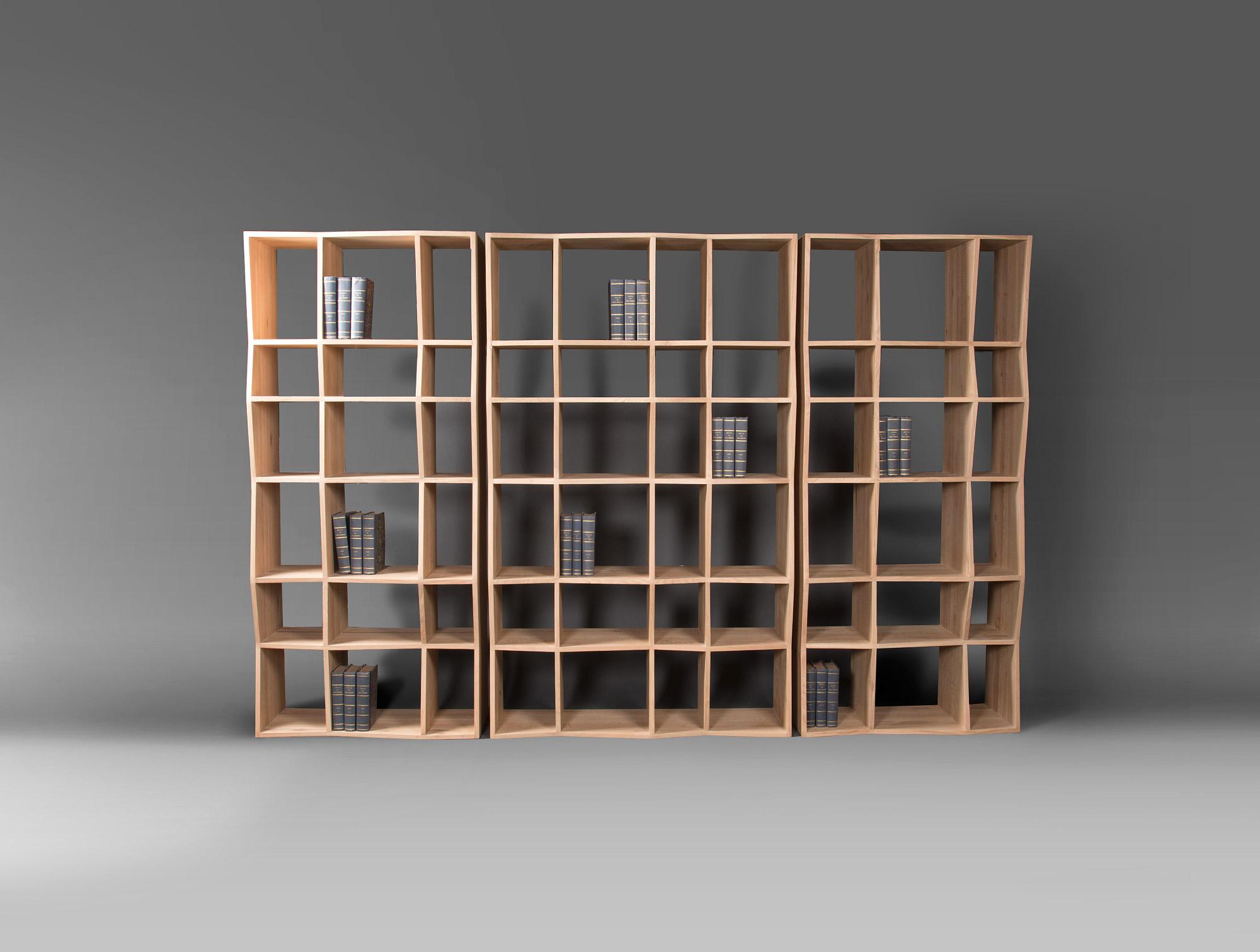 3 Oak Laminated Bookcases Soubrier Rent Storage Bookcase