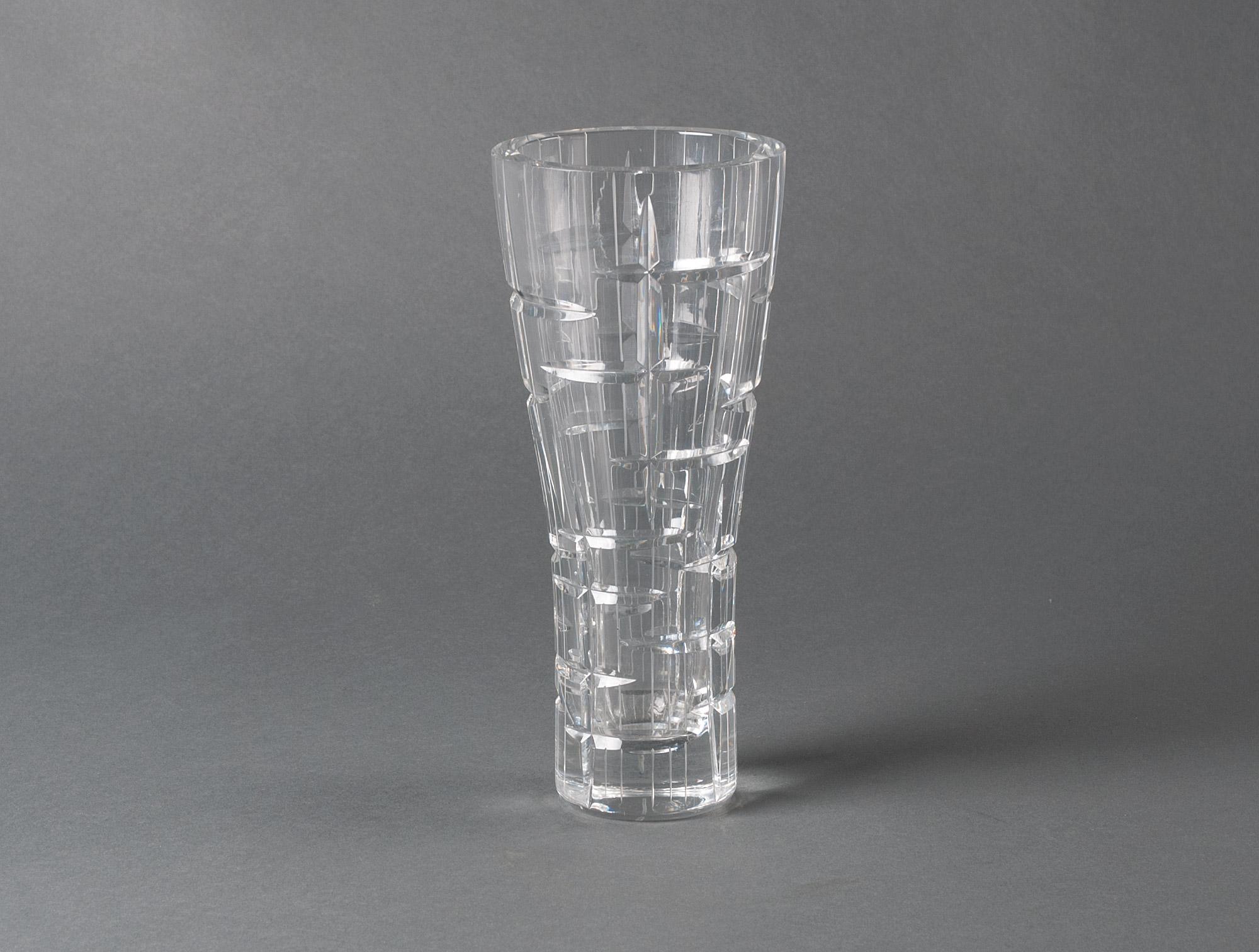 Paire de vases en cristal taill soubrier louer objets deco vase xxe paire de vases en cristal taill floridaeventfo Image collections