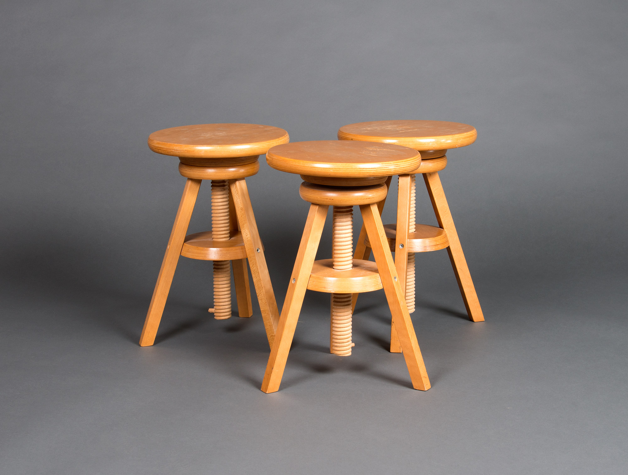 Wooden Screw Stools Soubrier Rent Seats Stool Xxth