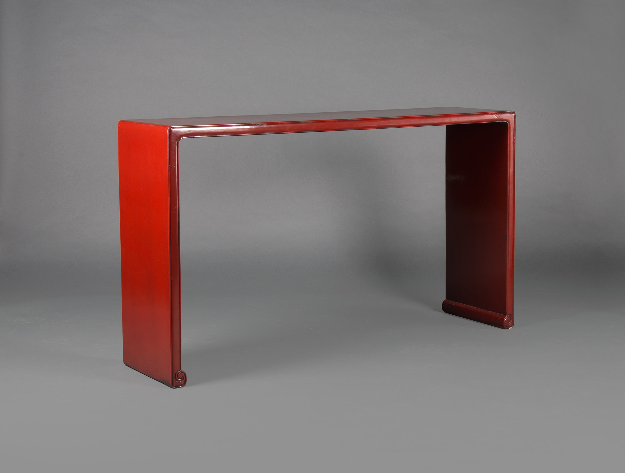 Red Lacquer Chinese Console Table Soubrier Rent Tables
