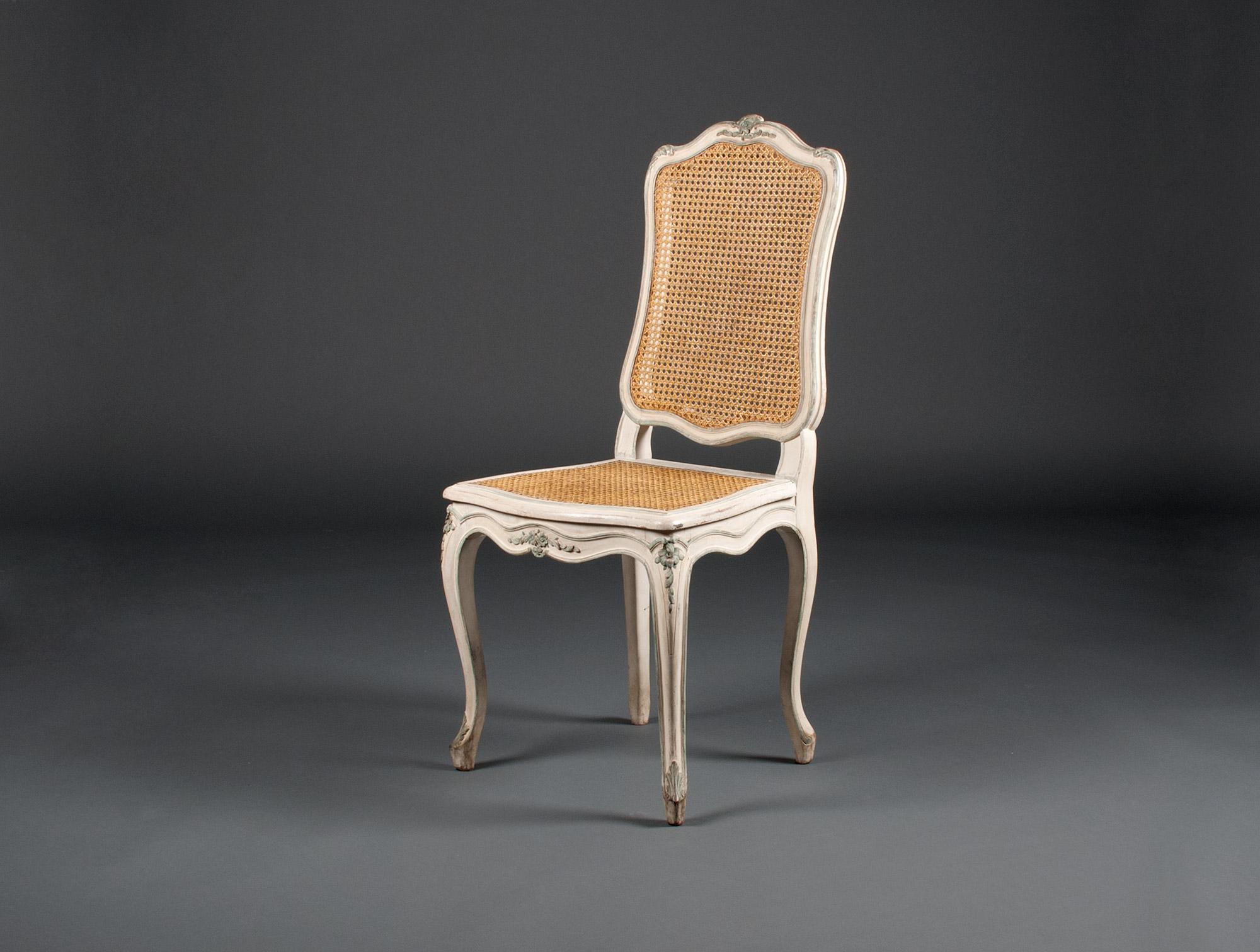 18 chaises cann es louis xv soubrier louer si ges chaise xviiie. Black Bedroom Furniture Sets. Home Design Ideas