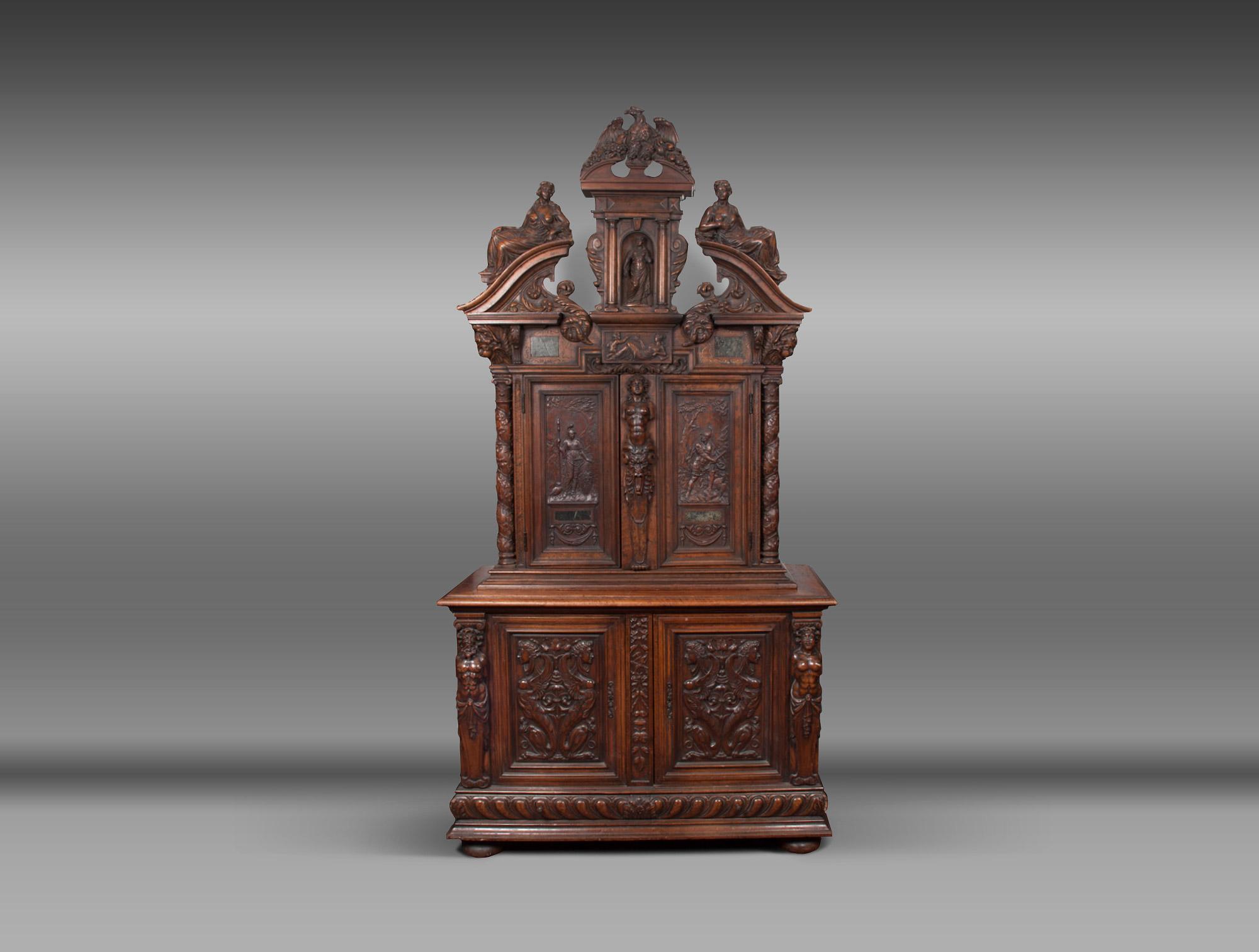 buffet de style henri ii soubrier louer rangements buffet xixe. Black Bedroom Furniture Sets. Home Design Ideas