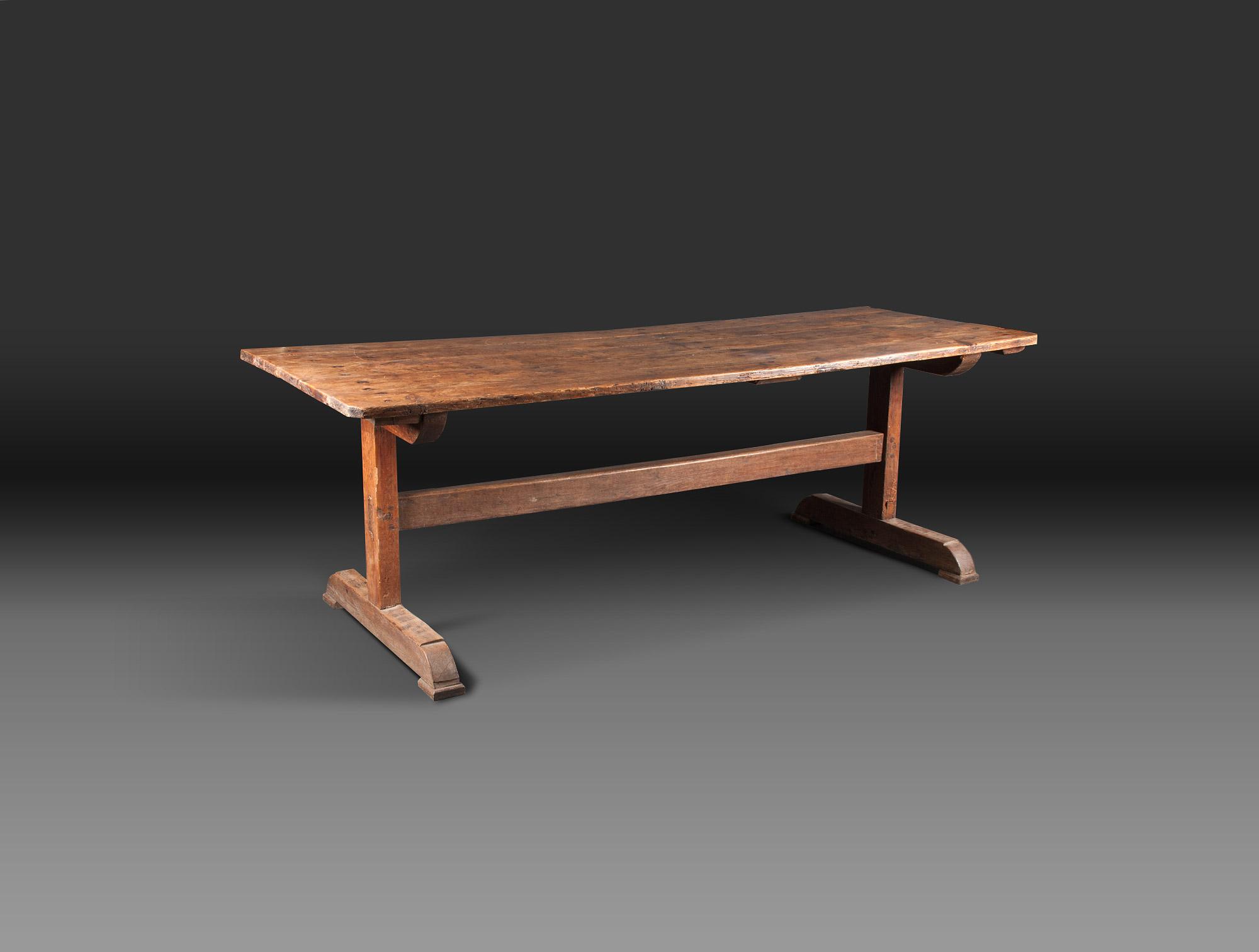 Table rustique soubrier louer tables bureaux table xixe - Table rustique ...