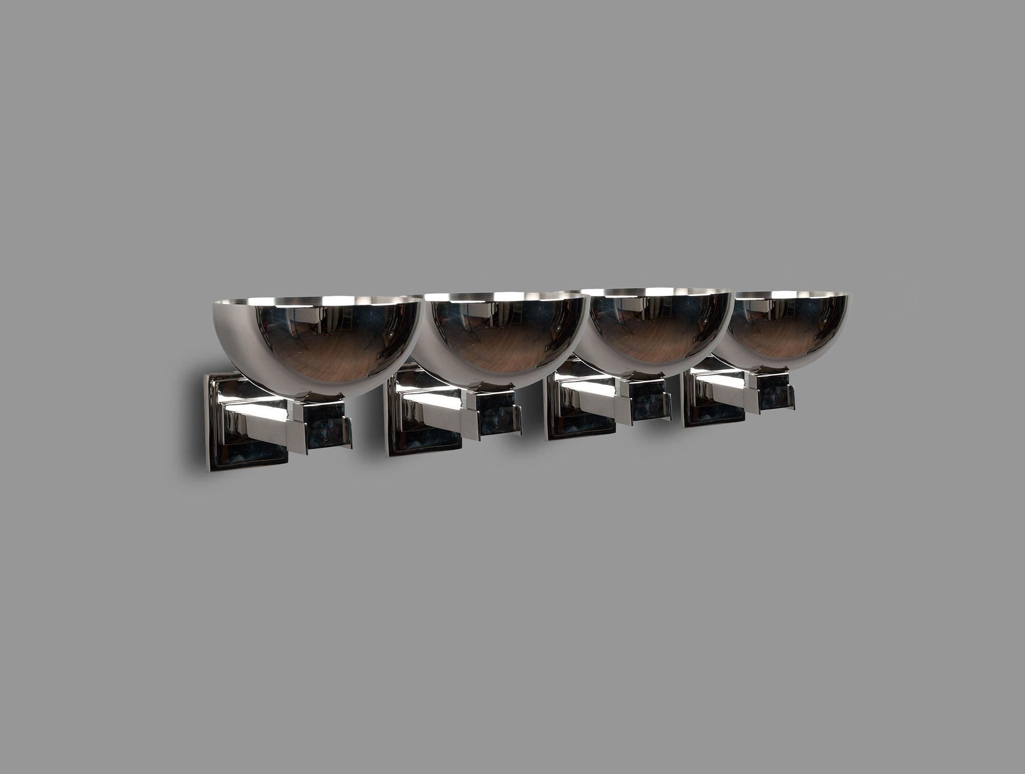 Six appliques modernistes soubrier louer luminaires applique art déco