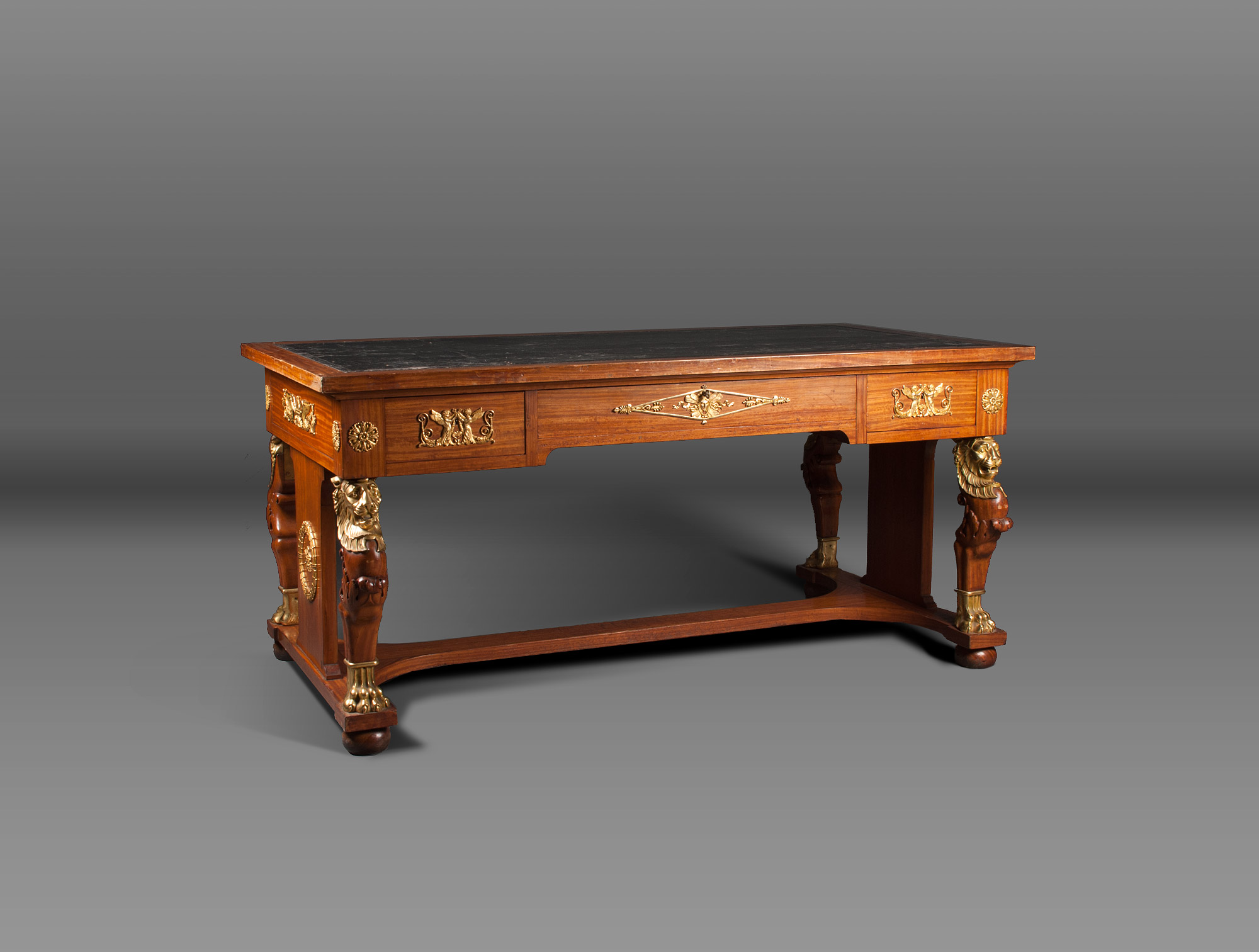 bureau empire en citronnier soubrier louer tables bureaux bureau empire. Black Bedroom Furniture Sets. Home Design Ideas