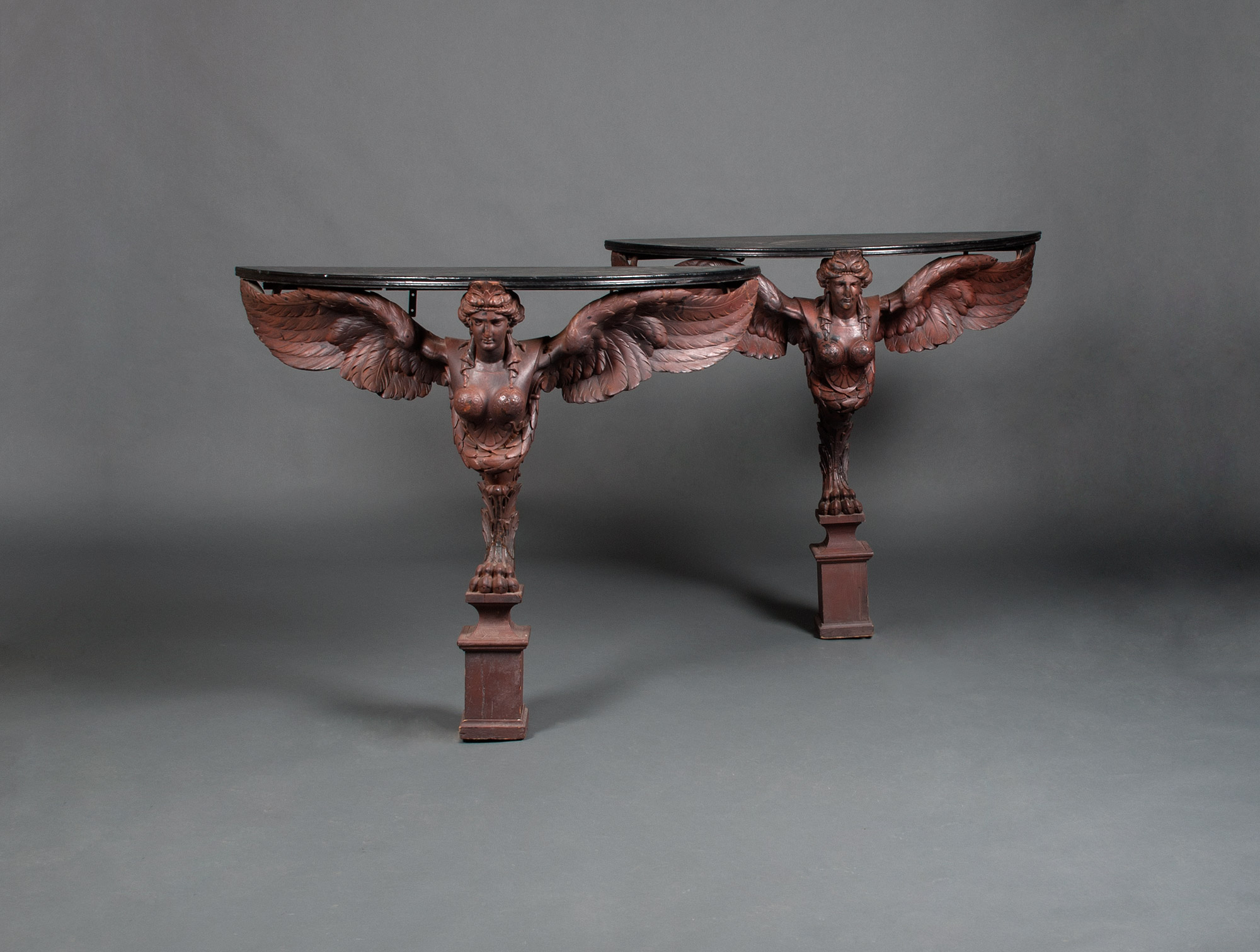 Pleasing Sphinx Demi Lune Console Tables Soubrier Rent Tables Desk Andrewgaddart Wooden Chair Designs For Living Room Andrewgaddartcom