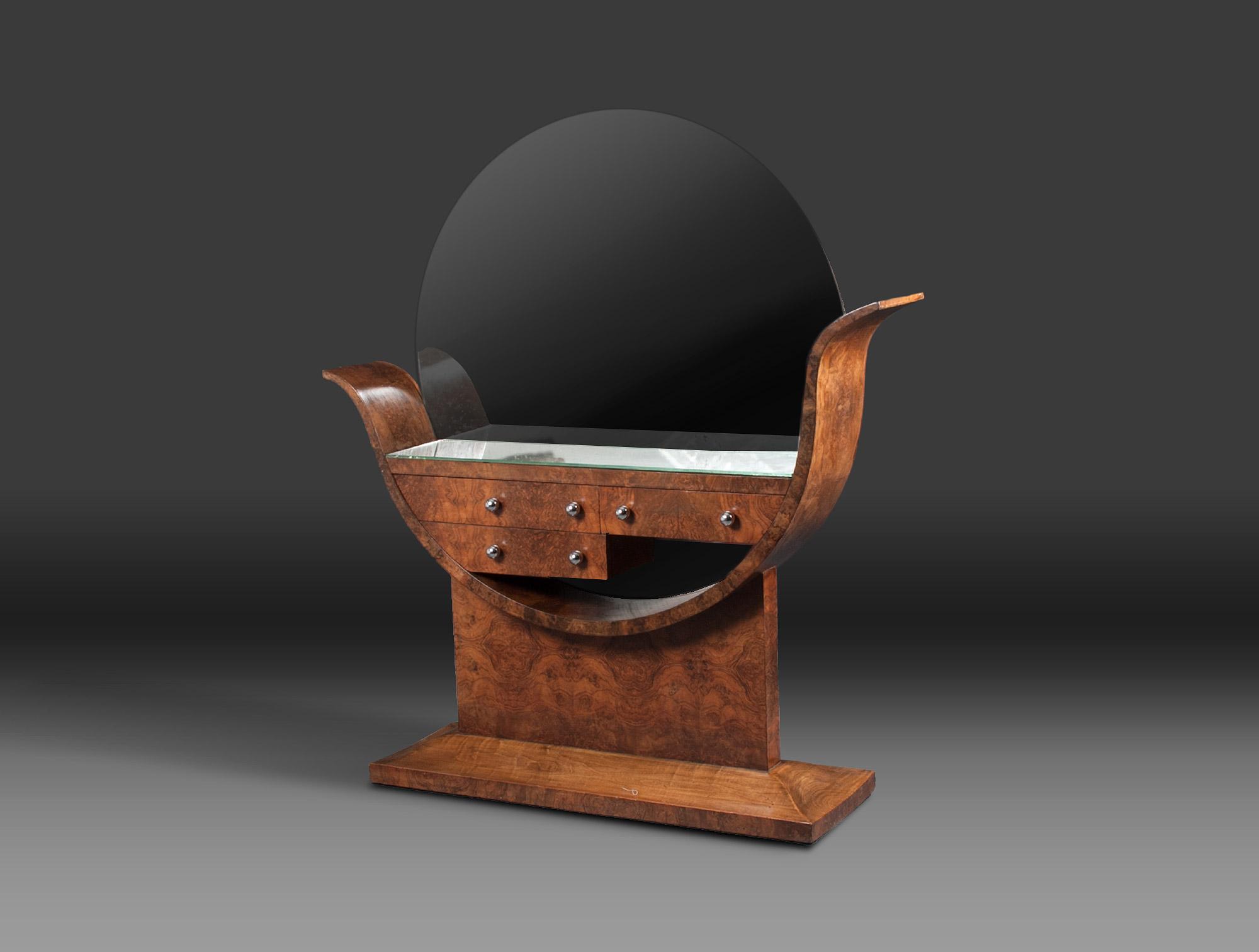 coiffeuse art d co soubrier louer tables bureaux coiffeuse art d co. Black Bedroom Furniture Sets. Home Design Ideas
