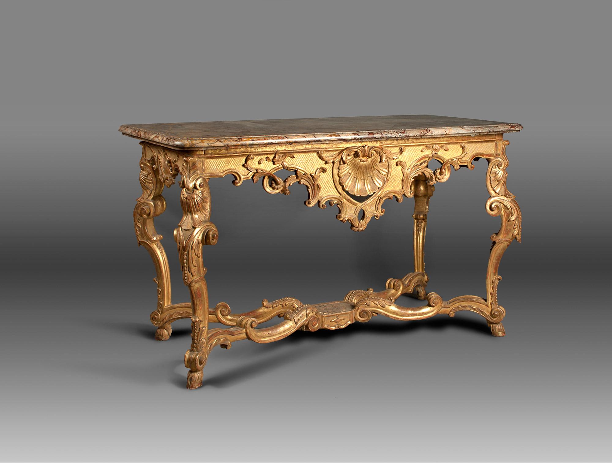 Console dor e louis xiv soubrier louer tables bureaux - Table basse louis xiv ...