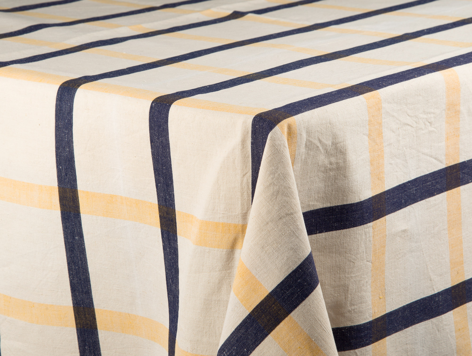 Yellow U0026 Blue Stripped Tablecloth