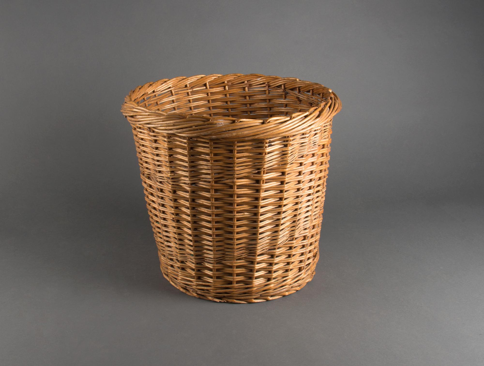 Wicker Wastepaper Basket