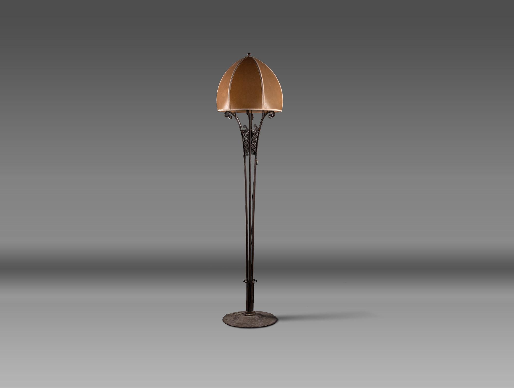 Wrought Iron Floor Lamp Soubrier Rent Lamps Floor Lamp Art Deco