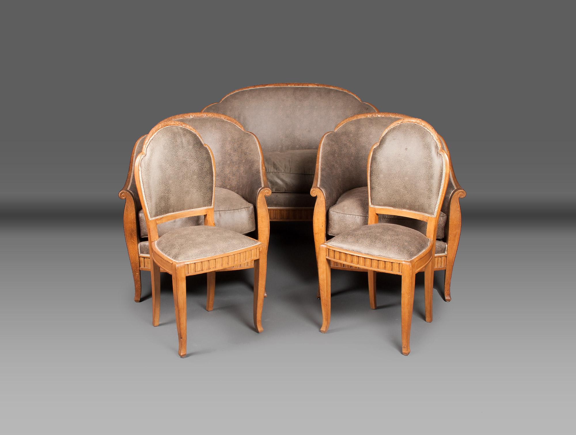 canap art d co galuchat soubrier louer si ges canap. Black Bedroom Furniture Sets. Home Design Ideas