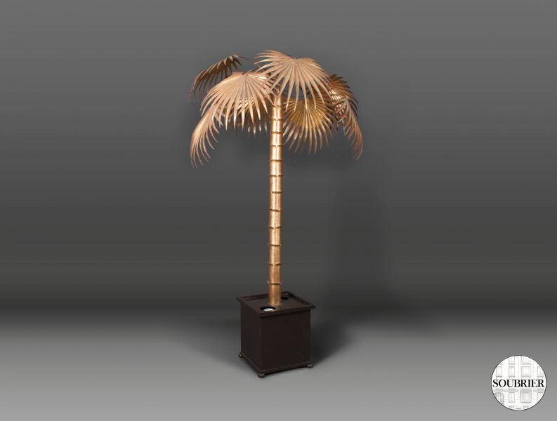 Large gilt metal palm