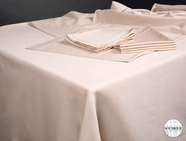 Beige tablecloth
