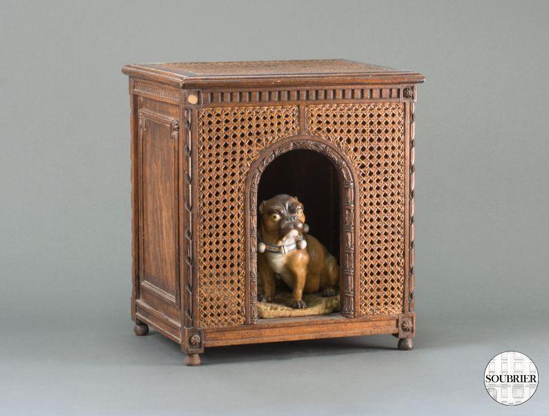 Antique Cane Dog Kennel Soubrier Rent Seats Stool Xixth
