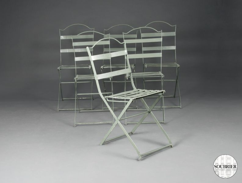 six chaises espagnoles de jardin soubrier louer mobiliers meuble de jardin xxe. Black Bedroom Furniture Sets. Home Design Ideas