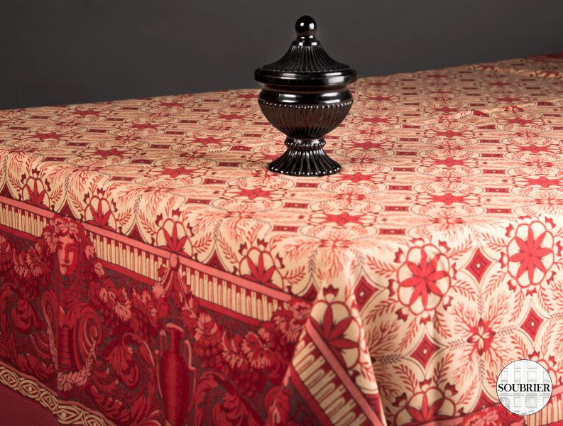 Nappe bordeaux double face