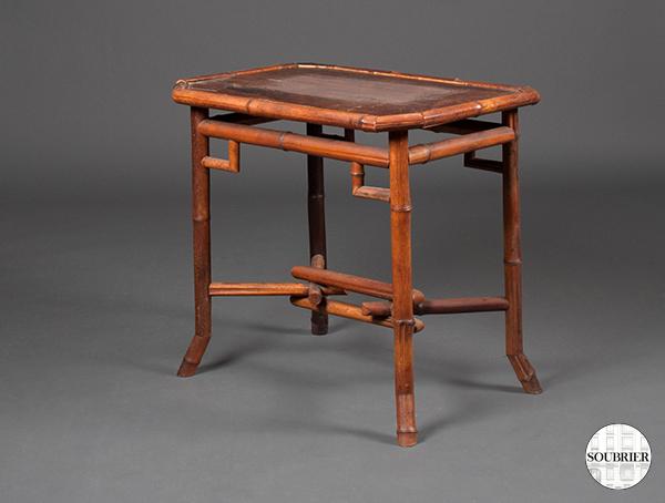 table en bambou 1900 soubrier louer tables bureaux table xxe. Black Bedroom Furniture Sets. Home Design Ideas