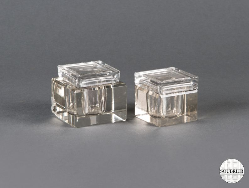 Glass inkwells