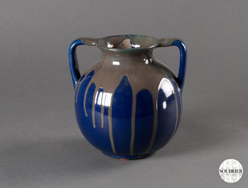 vase en gris bleu nuit soubrier louer objets d co vase xxe. Black Bedroom Furniture Sets. Home Design Ideas