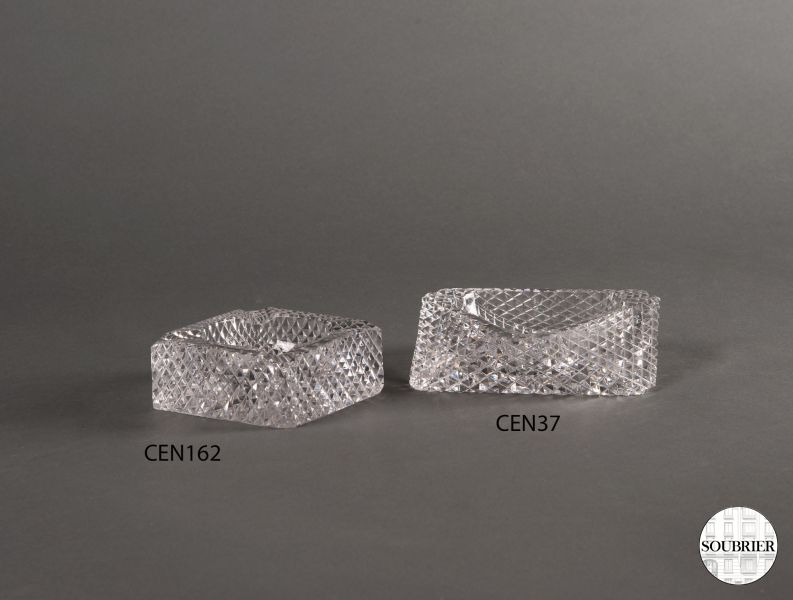 Crystal ashtrays