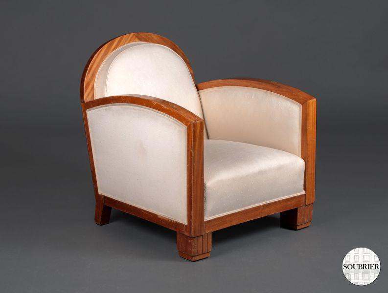 4 fauteuils art deco soubrier louer si ges fauteuil art d co. Black Bedroom Furniture Sets. Home Design Ideas