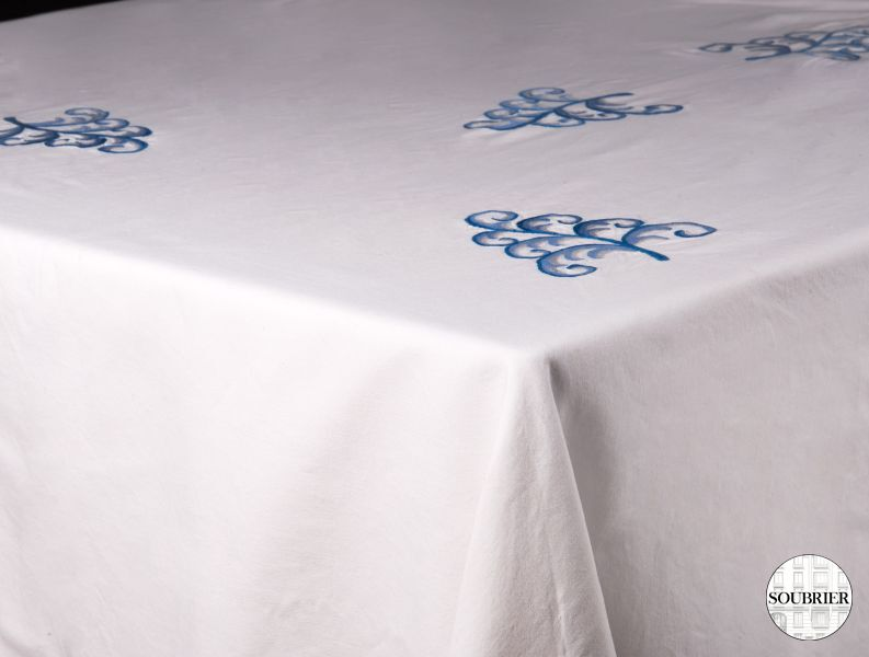 Blue flowers square tablecloth