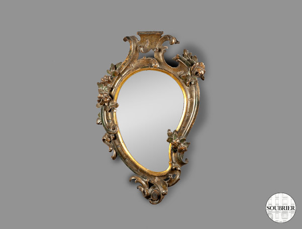 Miroir baroque italien soubrier louer mobiliers miroir for Miroir psyche baroque