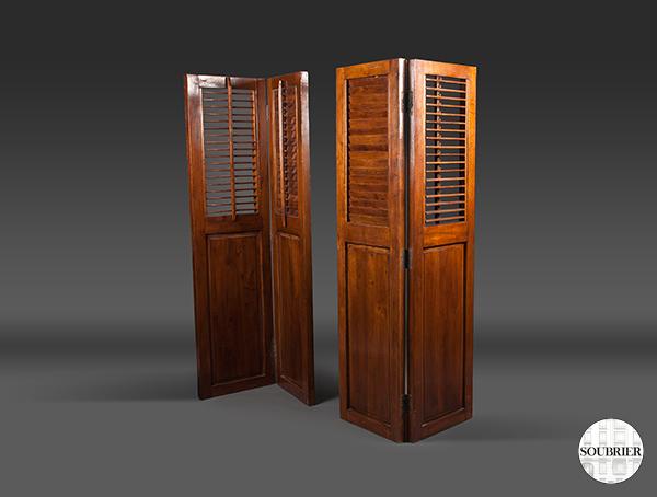 paravents en bois ajour s soubrier louer mobiliers paravent contemporain. Black Bedroom Furniture Sets. Home Design Ideas