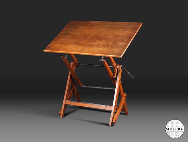 table dessin 1950 soubrier louer tables bureaux table xxe. Black Bedroom Furniture Sets. Home Design Ideas