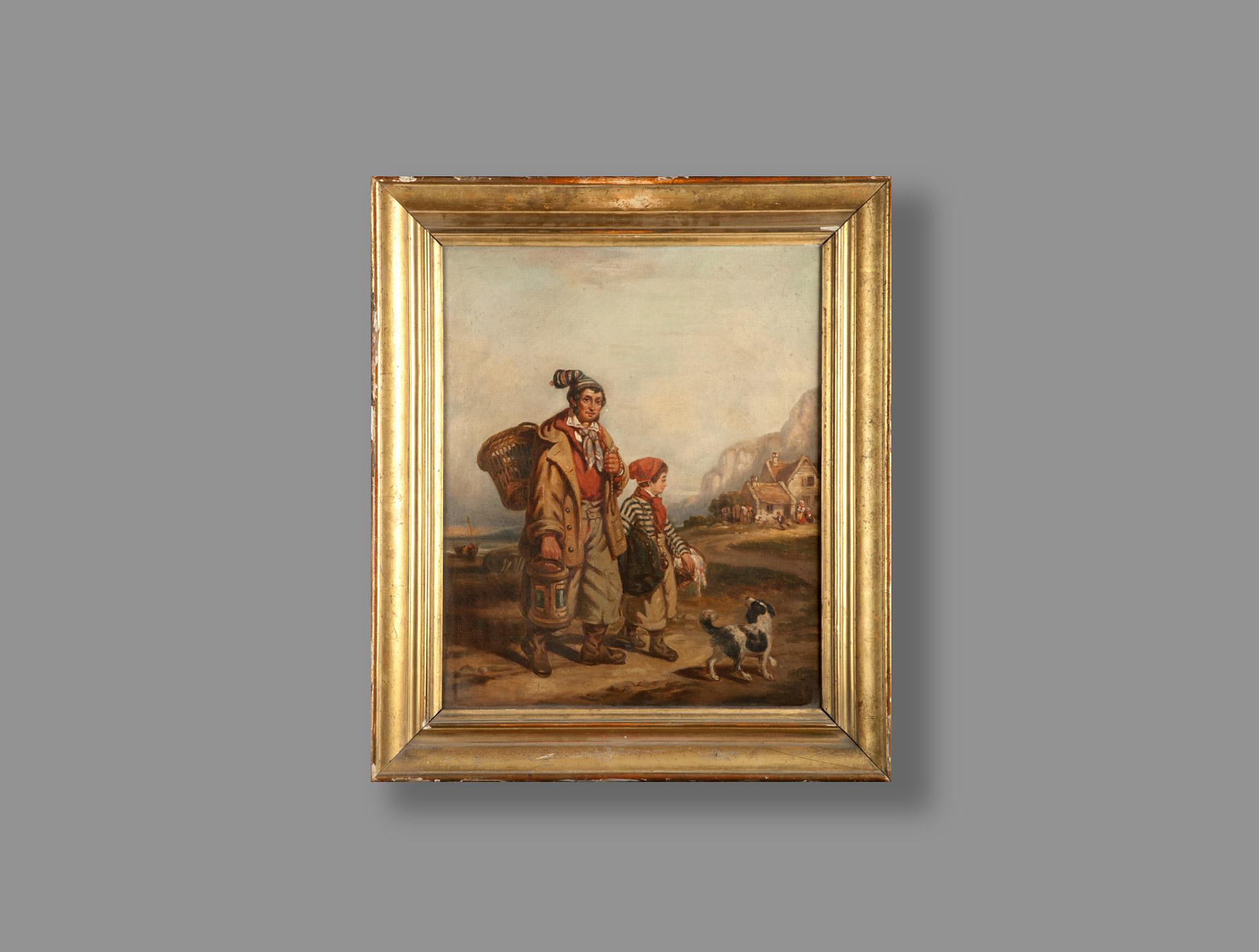Huile sur toile le vagabond soubrier louer tableaux for Miroir vagabond
