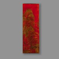 panneau chinois laque rouge soubrier louer tableaux abstrait xxe. Black Bedroom Furniture Sets. Home Design Ideas