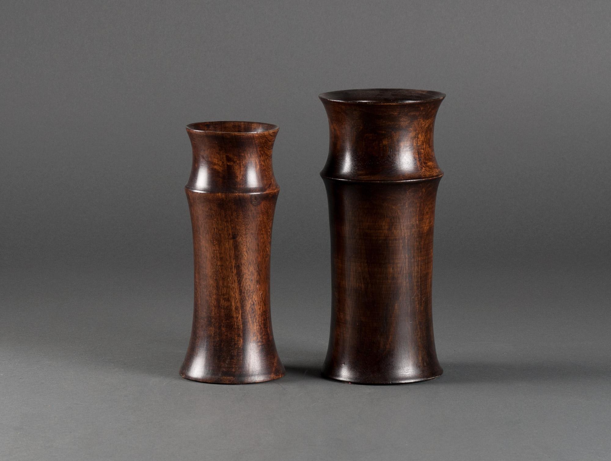 Vases en bois soubrier louer objets d co vase xxe - Vase en bois ...